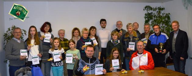 Teilnehmer der Laufserie die an der Auswertung persönlich teilnehmen konnten