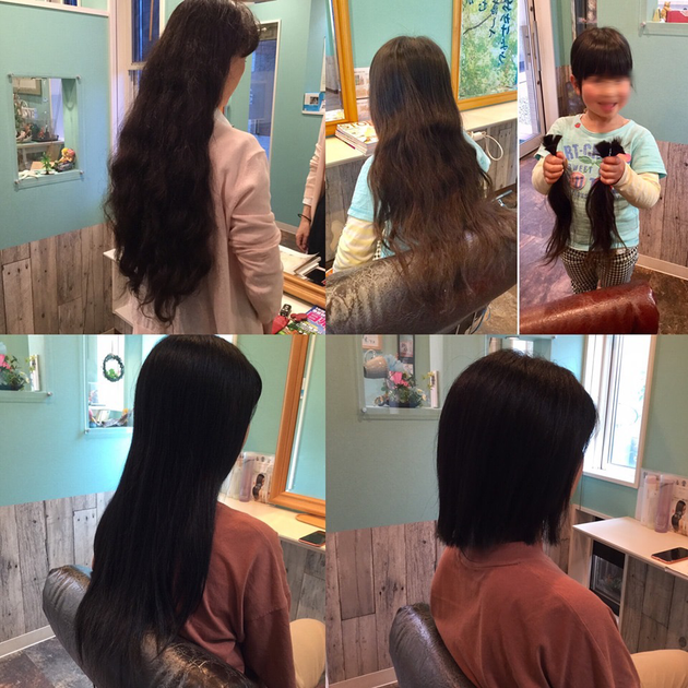 ドネーション後のヘアスタイルも楽しみの一つ。