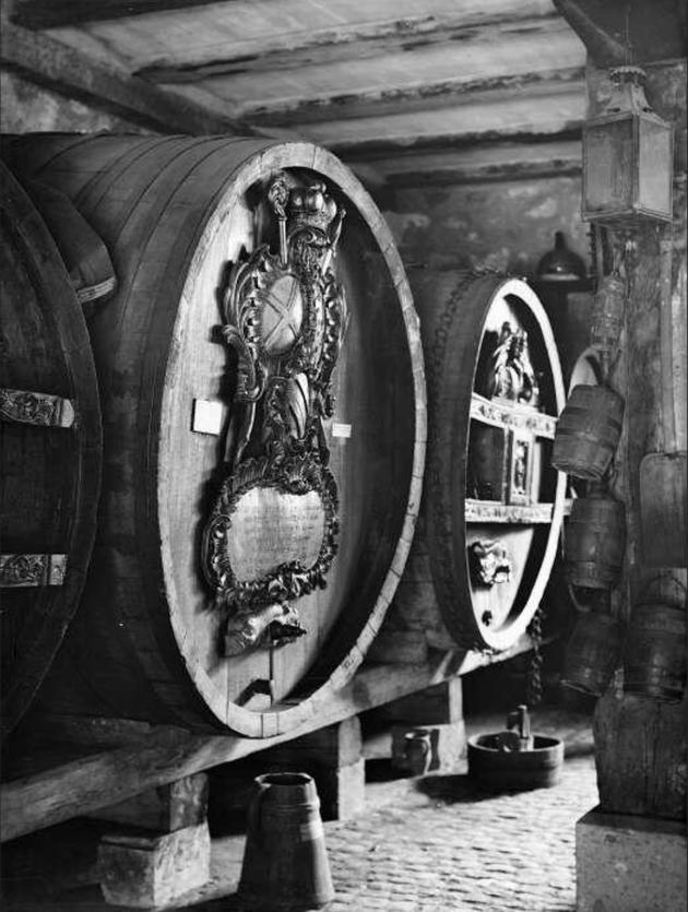 La cave alsacienne - Musée Unterlinden Colmar,  1937 Fonds BLUMER 8 Z 2592 - Archives de la ville et de l'Eurométropole de Strasbourg