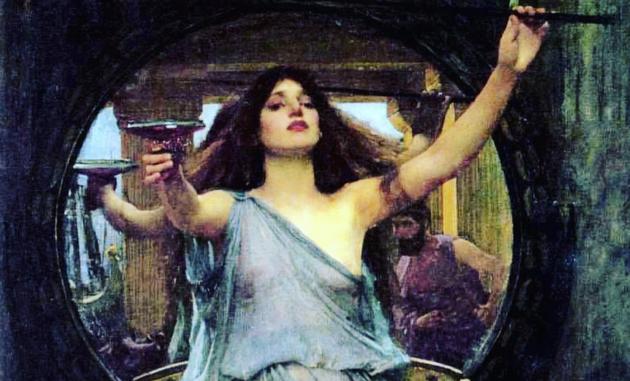Circé offrant la coupe d'immortalité à Ulysse -  John William Waterhouse (1891)