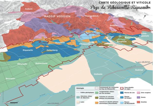 Le champ de fractures du Pays de Ribeauvillé-Riquewihr - GéoVino Alsace