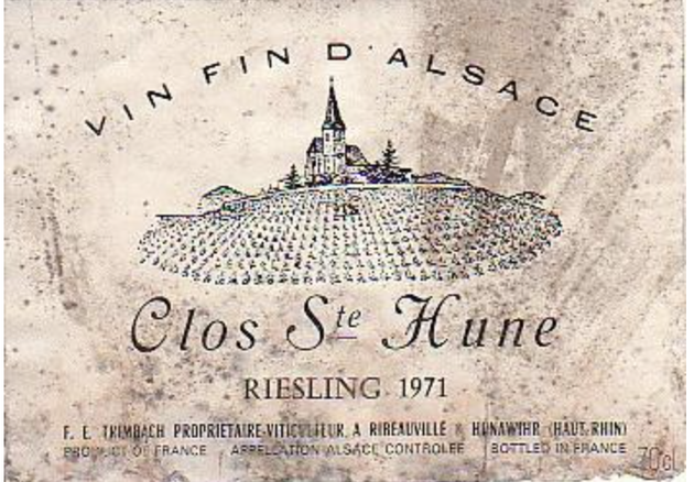 Un Clos Sainte Hune exceptionnel - Le Millésime 1971 est considéré comme un des trois meilleurs du XXe siècle ! Normal c'est mon année de naissance !