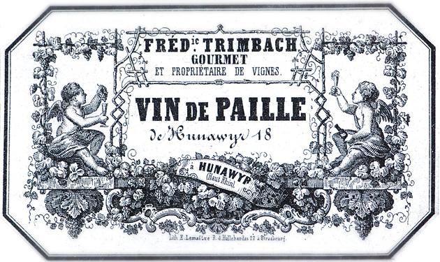 Une des plus anciennes étiquette de vin conservée en Alsace a été trouvée lors de la rénovation d'une maison à Hunawihr ; il s'agit d'un vin de paille de Hunawihr 18... du Domaine Trimbach.
