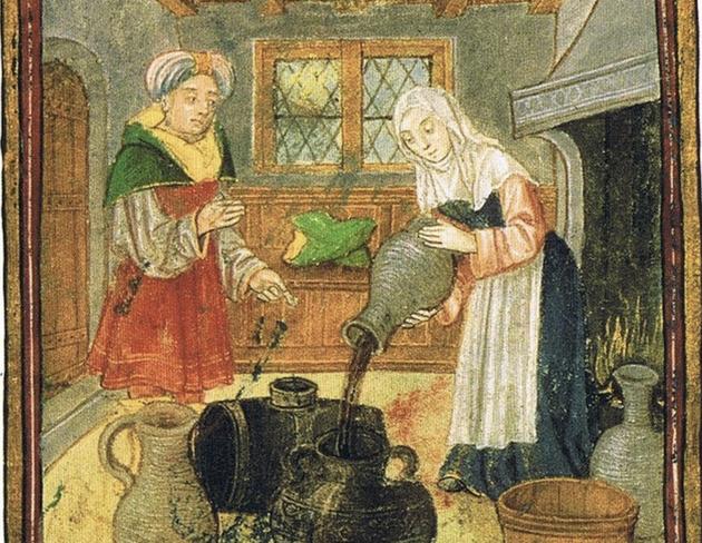 Miniature illustrant la préparation de vins épicés.
