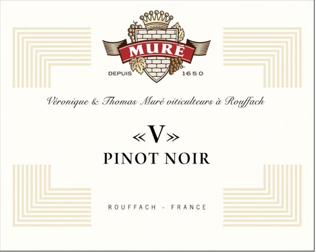 """Le Pinot Noir """"V"""" du Domaine Muré  : V comme Vorbourg"""