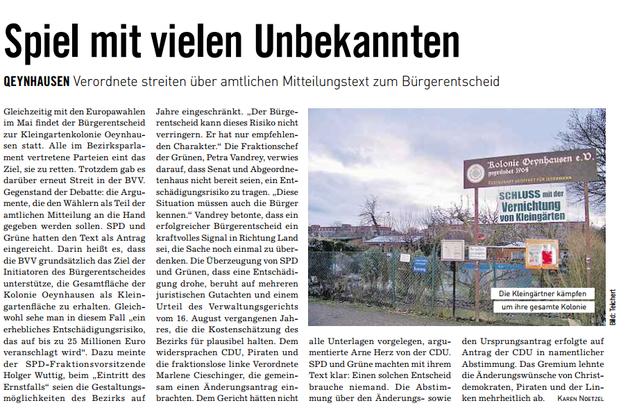 Mit Dank an die BVZ Anzeigenzeitungen GmbH und die Autorin Karen Eva Nötzel