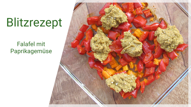 Beatrice Winkel - Blitzrezept Falafel mit Paprikagemüse