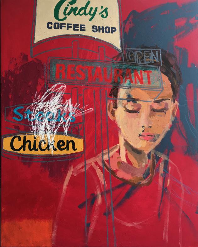 www.ateliersranova.com    Selina Saranova   Cindy`s   100x80cm   acrylic on canvas