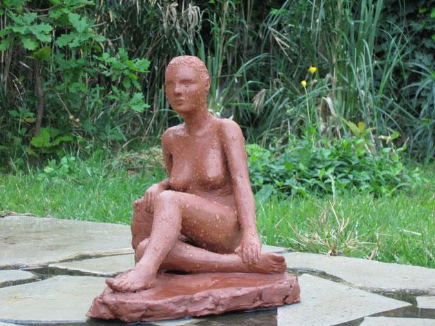 nouveausculpteur sculpture femme nue: étude de nu accoudé