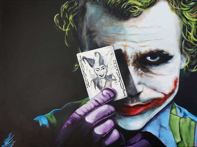 """Jollyjoker"", 2012,  acrylic on canvas, 60x80"