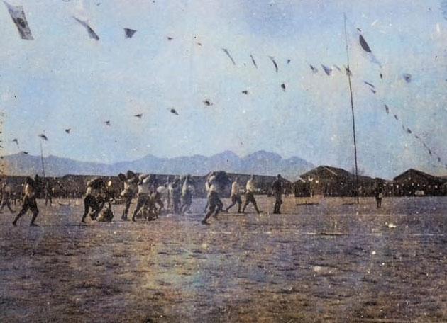日中戦争の兵営における運動会