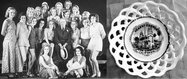 Sobre estas líneas (izq.), las señoritas del Ziegfeld Follies, cultas damitas que amenizaban las tertulias artísticas de William Randolph Hearst