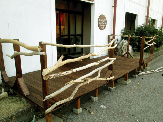 流木ウッドデッキ