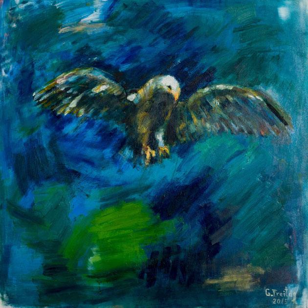 Adler | 2015, Öl auf Leinwand, 100 x 100 cm