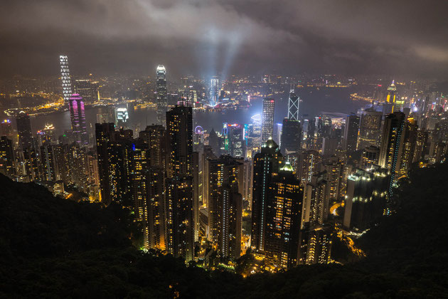 "Skyline of Hongkong from ""The Peak"""