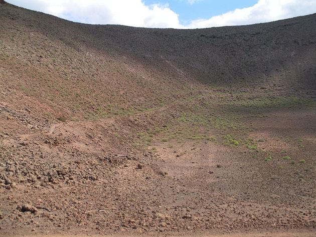 Montaña de la Caldera, Kleiner Krater