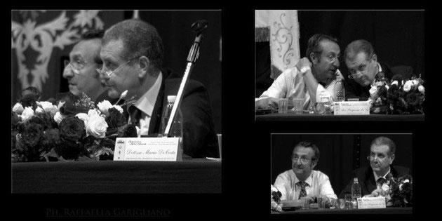 Con l'Avv. Piergiacomo La Via, Presidente del Coordinamento Unitario al tavolo della presidenza
