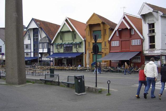 Die Innenstadt von Stavanger