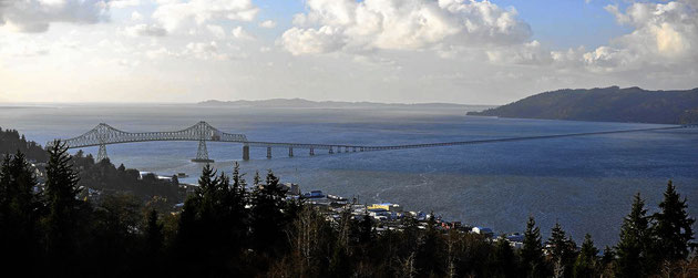 Die Brücker über den Columbia River bei Astoria