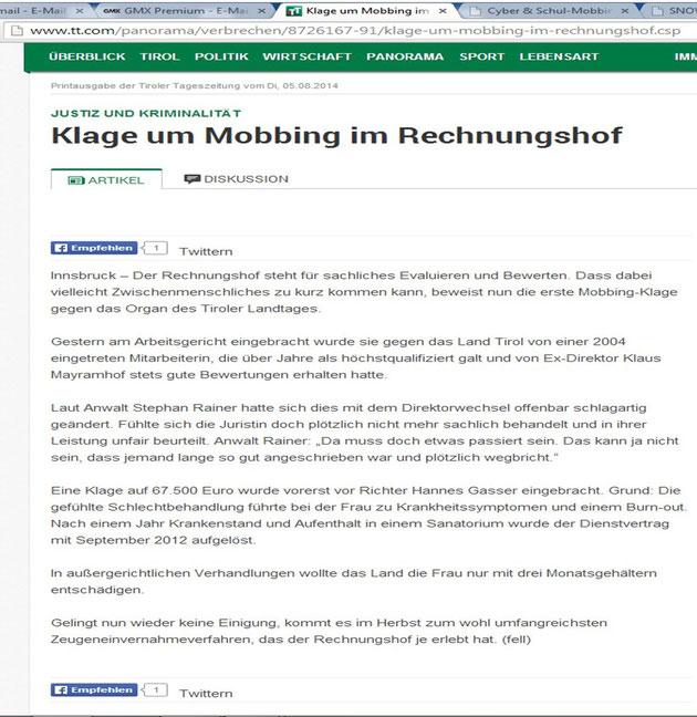 Quelle: Tiroler Tageszeitung 05.08.2014