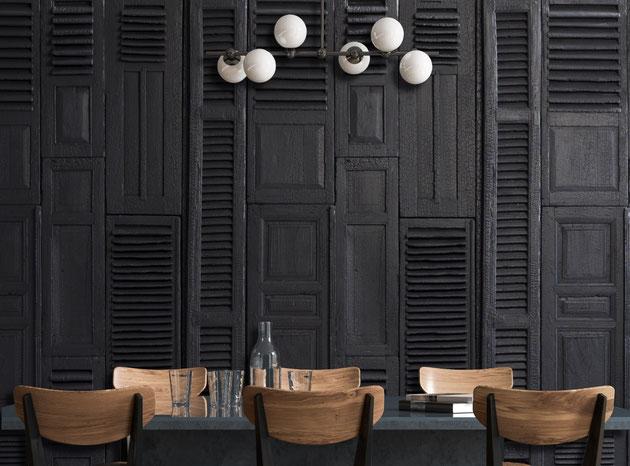 Panel Piedra - Serie Remember - PR-810 Fenster - Verbrannte - Verkohlte Holzoptik - SalArt Design