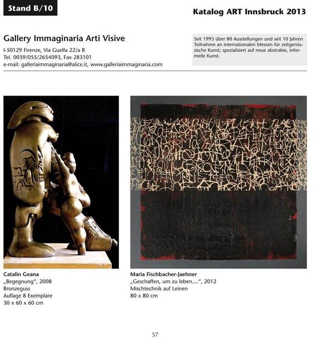 Besuchen Sie Maria Fischbacher-Jaehner auf der ART Innsbruck 2013!