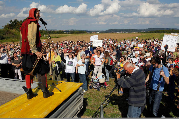 Demo auf dem Mönchsloh, Foto: Hans-Joachim Müller