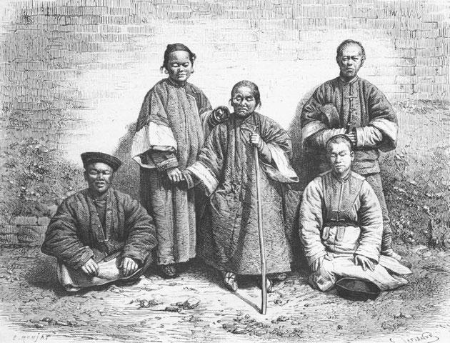 Mendiants aveugles, d'après une photographie du docteur Morache.