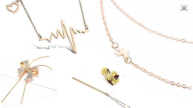 sautoir collier femme et chaine avec pendentif clic tendance