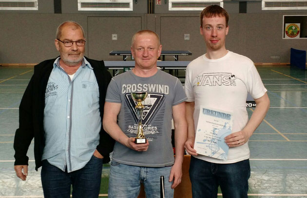 Die Pokalhelden der TTF Konz III v.l.: Guido Breidt, Winni Marxen und Leo Wengler