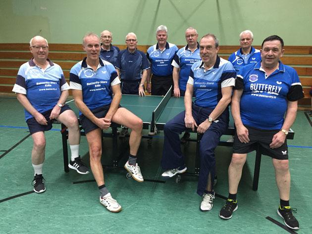 v.l. Edgar Thielen, Ralf Bergmann, Helmut Löwenberg, Matthias Fisch, Karl-Hans Riehm, Werner Jullien, Stefan Schülter, Helmut Stiefel und Eugene Scheuer.