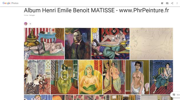 Album MATISSE - www.PhrPeinture.fr