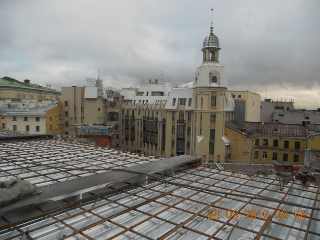Армирование перекрытия зрительного зала Малой сцены Александрийского театра