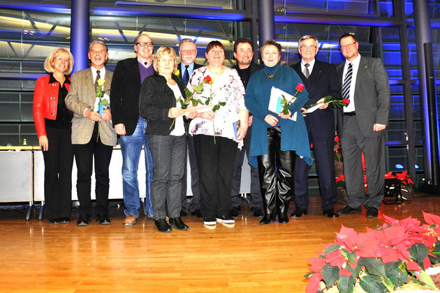 Die geehrten Personen der Ludwigsfelder Vereine am 10. Dez. 2014