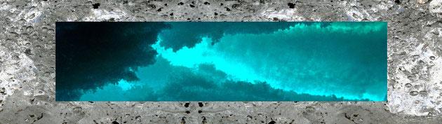 LA GLACE format 40 x 150 cm