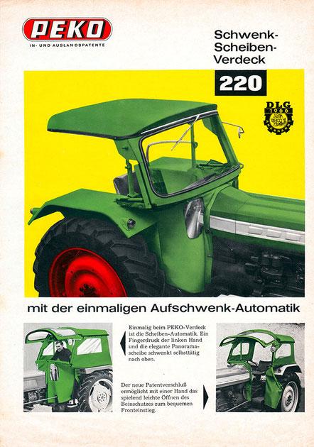 PEKO Schwenkscheibenverdeck 220 Scheiben Automatik