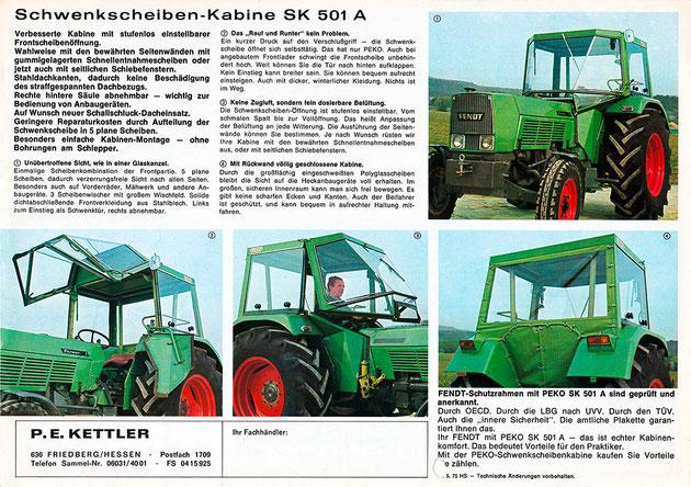 PEKO Schwenkscheiben Kabine SK 501 A