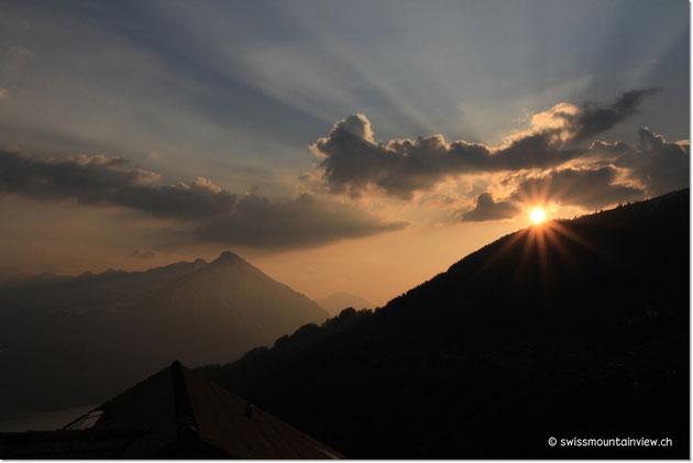 Sonnenuntergang bei swissmountainview.ch