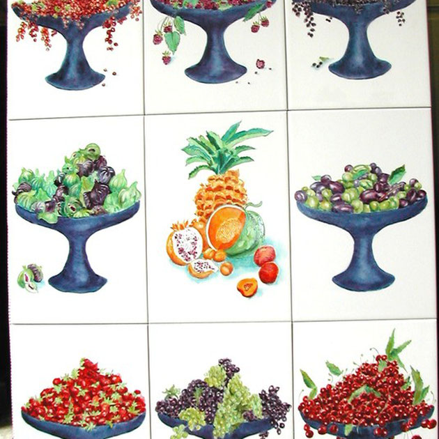 coupes de fruits - dim. 74,7cm x 109,5 cm epais. 7 mm - 450 €
