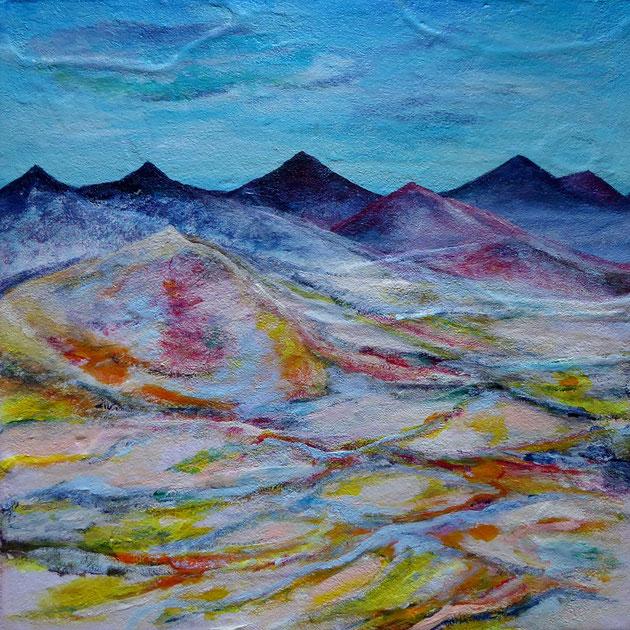 Painted Desert, Acryl und Sand auf Leinwand, 40x40cm, 180€