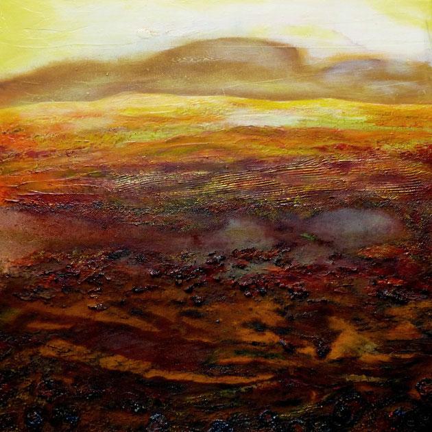 Lavalandschaft, Acryl auf Leinwand, 50x50 cm, 280€