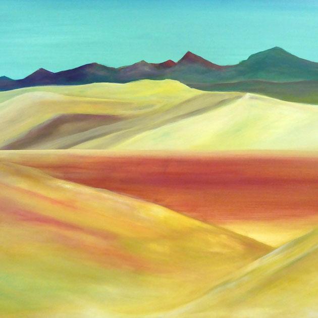 Wüstenlandschaft, Acryl auf Leinwand, 80x100 cm, 950€