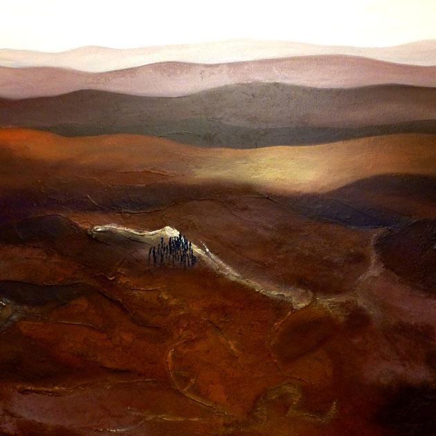 It is still so far! Acryl auf Leinwand, 80x100 cm, 820€