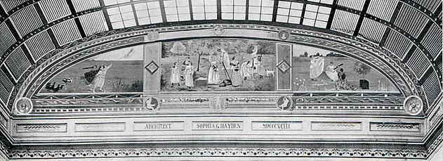 シカゴ博覧会で展示された壁画「モダンウーマン」。