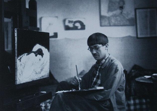 キキをモデルにして絵を描く藤田嗣治。Wikipediaより。
