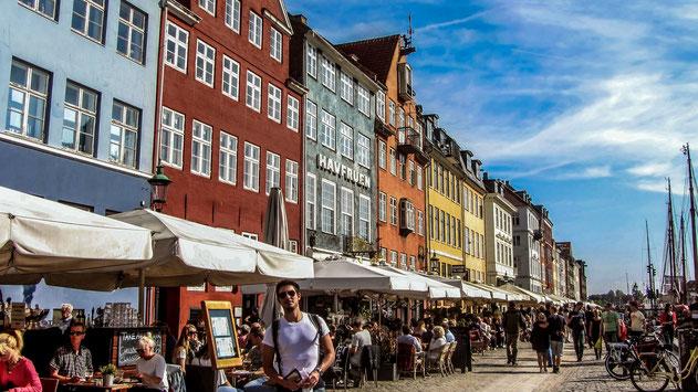 Sul Nyhavn a Copenhagen
