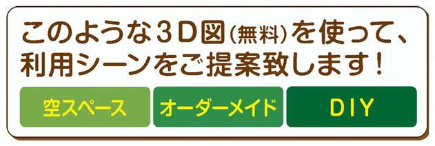 箱の専門店「空間活用キット」の3D図によるご提案