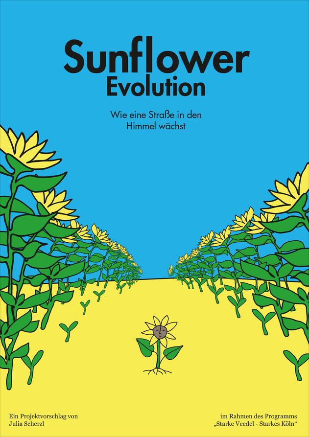 Sunflower Evolution. Eine Aktion von Julia Scherzl, Social Designerin aus Köln-Mülheim