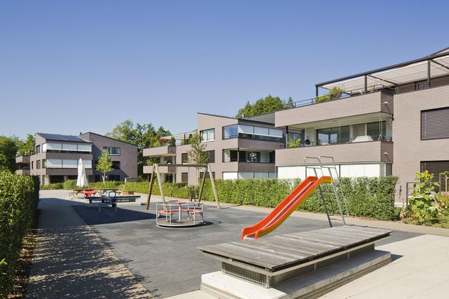 Wohnsiedlung Bruggächer Mönchaltorf, TGS Architekten Luzern Architekturfotografie