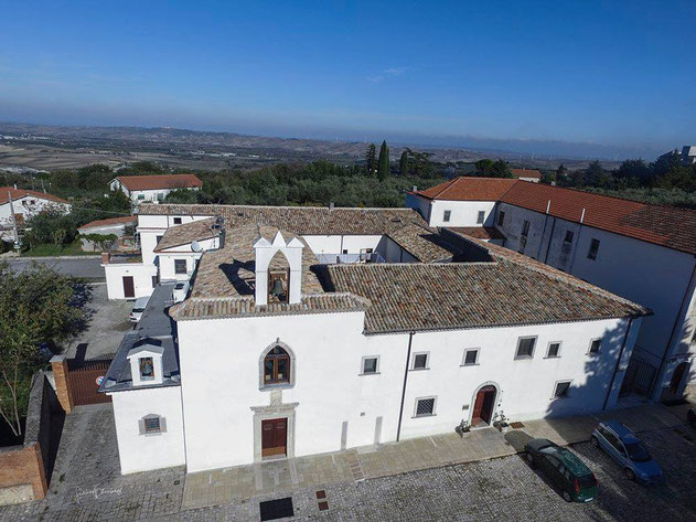Larino convento ripreso da un drone